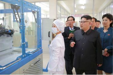 160621 - 조선의 오늘 - Genosse KIM JONG UN besuchte die Pyongyanger Seidenspinnerei 'Kim Jong Suk' - 06 - 경애하는 김정은동지께서 김정숙평양제사공장을 현지지도하시였다