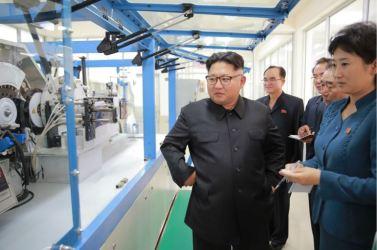 160621 - 조선의 오늘 - Genosse KIM JONG UN besuchte die Pyongyanger Seidenspinnerei 'Kim Jong Suk' - 07 - 경애하는 김정은동지께서 김정숙평양제사공장을 현지지도하시였다