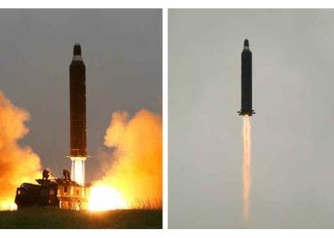 160623 - RS - KIM JONG UN - 12 - 주체조선의 국방력 일대 과시, 지상대지상중장거리전략탄도로케트 《화성-10》시험발사에서 성공 경애하는 김정은동지께서 지상대지상중장거리전략탄도로케트 《화성-10》시험발사를 현지에서 지도하시였다