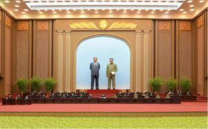 160629 - 조선의 오늘 - KIM JONG UN - 4. Tagung der Obersten Volksversammlung der DVRK in der 13. Legislaturperiode - 02 - 조선민주주의인민공화국 최고인민회의 제13기 제4차회의 진행 - 경애하는 김정은동지께서 회의에 참석하시였다