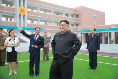 160703 - 조선의 오늘 - KIM JONG UN - Genosse KIM JONG UN besichtigte die neu errichtete Mittelschule für Waisen Pyongyang - 01 - 경애하는 김정은동지께서 새로 건설된 평양중등학원을 현지지도하시였다