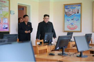 160703 - 조선의 오늘 - KIM JONG UN - Genosse KIM JONG UN besichtigte die neu errichtete Mittelschule für Waisen Pyongyang - 03 - 경애하는 김정은동지께서 새로 건설된 평양중등학원을 현지지도하시였다