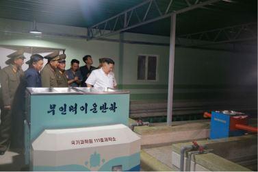 160706 - 조선의 오늘 - KIM JONG UN - Genosse KIM JONG UN besichtigte den rekonstruierten Betrieb für Sumpfschildkrötenzucht Pyongyang - 04 - 경애하는 김정은동지께서 우리 나라 양식공장의 본보기, 표준으로 전변된 평양자라공장을 현지지도하시였다