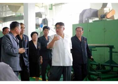 160712 - RS - KIM JONG UN - Genosse KIM JONG UN besichtigte das Kunstlederwerk Phyongsong - 02 - 경애하는 김정은동지께서 평성합성가죽공장을 현지지도하시였다