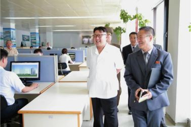 160714 - 조선의 오늘 - KIM JONG UN - Genosse KIM JONG UN besichtigte das Institut für Architektur Paektusan - 03 - 경애하는 김정은동지께서 백두산건축연구원을 현지지도하시였다