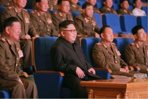 160716 - 조선의 오늘 - KIM JONG UN - Marschall KIM JONG UN besuchte ein Konzert der Frauen der Offiziere der Volksarmee - 01 - 경애하는 김정은동지께서 조선인민군 제2기 제6차 군인가족예술소조경연에서 당선된 군부대들의 군인가족예술소조공연을 관람하시였다