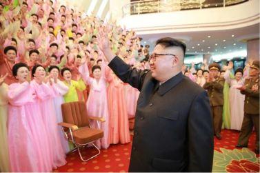 160716 - 조선의 오늘 - KIM JONG UN - Marschall KIM JONG UN besuchte ein Konzert der Frauen der Offiziere der Volksarmee - 02 - 경애하는 김정은동지께서 조선인민군 제2기 제6차 군인가족예술소조경연에서 당선된 군부대들의 군인가족예술소조공연을 관람하시였다