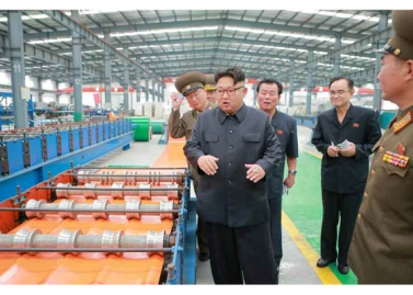 160727 - RS - Genosse KIM JONG UN besuchte das Baumaterialienkombinat Chollima - 04 - 경애하는 김정은동지께서 천리마건재종합공장을 현지지도하시였다