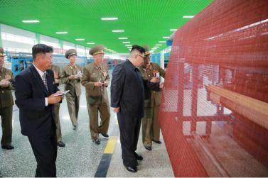 160730 - 조선의 오늘 - KIM JONG UN - Marschall KIM JONG UN besuchte das neue Fischfanggerätekombinat der Armee - 09 - 경애하는 김정은동지께서 새로 건설된 조선인민군 어구종합공장을 현지지도하시였다