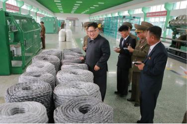 160730 - 조선의 오늘 - KIM JONG UN - Marschall KIM JONG UN besuchte das neue Fischfanggerätekombinat der Armee - 14 - 경애하는 김정은동지께서 새로 건설된 조선인민군 어구종합공장을 현지지도하시였다