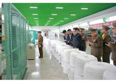 160730 - RS - KIM JONG UN - Marschall KIM JONG UN besuchte das neue Fischfanggerätekombinat der Armee - 11 - 경애하는 김정은동지께서 새로 건설된 조선인민군 어구종합공장을 현지지도하시였다