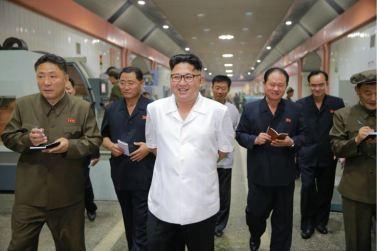 160810 - 조선의 오늘 - KIM JONG UN - Genosse KIM JONG UN besichtigte das Maschinenkombinat '18. Januar' - 05 - 경애하는 김정은동지께서 1월18일기계종합공장을 현지지도하시였다