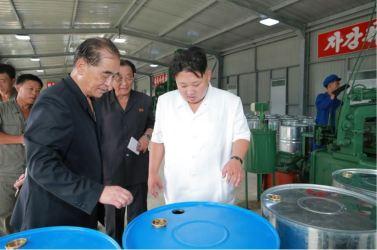 160813 - 조선의 오늘 - KIM JONG UN - Genosse KIM JONG UN besichtigte die neuen Produktionsprozesse im Vereinigten Chemiewerk Sunchon - 11 - 경애하는 김정은동지께서 순천화학련합기업소에 새로 꾸린 아크릴계칠감생산공정을 돌아보시였다