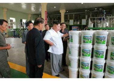 160813 - RS - KIM JONG UN - Genosse KIM JONG UN besichtigte die neuen Produktionsprozesse im Vereinigten Chemiewerk Sunchon - 05 - 경애하는 김정은동지께서 순천화학련합기업소에 새로 꾸린 아크릴계칠감생산공정을 돌아보시였다