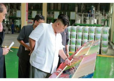 160813 - RS - KIM JONG UN - Genosse KIM JONG UN besichtigte die neuen Produktionsprozesse im Vereinigten Chemiewerk Sunchon - 06 - 경애하는 김정은동지께서 순천화학련합기업소에 새로 꾸린 아크릴계칠감생산공정을 돌아보시였다